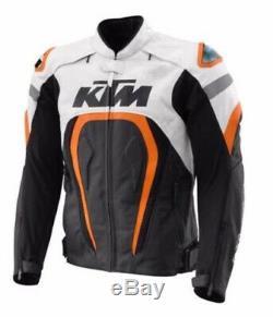 KTM motogp Motorcycle / Motorbike Racing Cowhide Leather jackets Riding Jacket