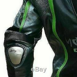 Kawasaki Ninja Monster Motorbike/ Racing Leather Jacket In All Customized Sizes