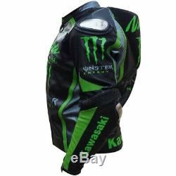 Kawasaki Ninja Motorbike Motorcycle 1.3mm to 1.4mm Leather Street Racing Jacket
