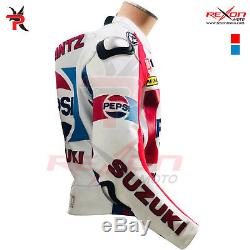 Kevin Schwantz Pepsi Suzuki MotoGP 1998 Motorbike Leather Biker Jacket