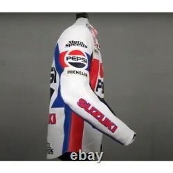 Kevin Schwantz Pepsi Suzuki Motorbike Leather Racing Jacket-LJ-0876 (US 38-48)