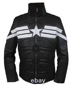 Kid's Captain America Winter Soldier Chris Evans Black Jacket