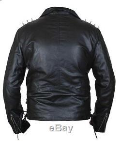 Kid's Ghost Rider Nicholas Cage Motorcycle Biker Jacket with Metal Spikes