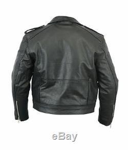 Kids Classic Motorcycle Jacket Black Leather 18 Boys Biker Coat Childs Beltless