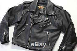 Kids youth boys girls harley davidson leather jacket s black basic skins shovel