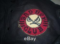 LIFE'S A BEACH SURF GEAR BAD BOY CLUB LETTERMAN JACKET XL surfgear vintage mx