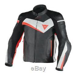 Leather Motorbike Motorcycle Jacket Black White Red NEW SALE
