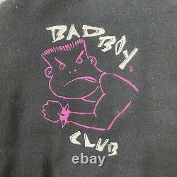 Lifes A Beach Bad Boy Club Leather Jacket Mens XL Xtra Bad Varsity Jacket