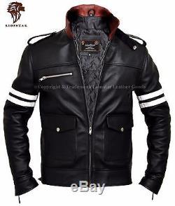Lionstar Rocky Newage Italian Motorbike Motorcycle Style Real Leather Jacket
