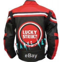 Lucky Strike Motorcycle Moto Gp Motorbike Racing Leather Riding Jacket