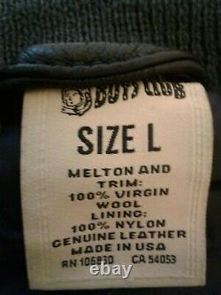 MMXIII Billionaire Boys Club Jacket, Black & White Leather Sleeve Size L