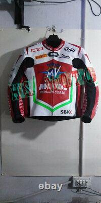 MV Agusta Brand New Motorcycle Motorbike Racing Leather Jacket