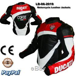 Men Ducati motorcycle leather racing jacket LD-06-2019 (US 38-48)
