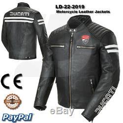Men Ducati motorcycle leather racing jacket LD-22-2019 (US 38-48)