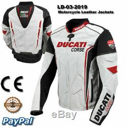 Men Ducati motorcycle leather racing jacket SL-007-2019 (US 38-48)