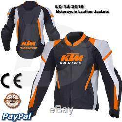 Men Ktm motorcycle leather racing jacket LD-14-2019 (US 38-48)