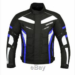 Men Motorbike Real Leather Shoes Motorcycle Clothing Textile Riding Jacket Coat