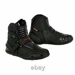 Men Motorcycle Suit Motorbike Suits Waterproof Sets Leather Boots Jackets Pants
