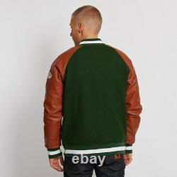 Men's Fashion Billionaire boys Club Varsity Real Leather Jacket New Arrival