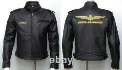 Men's Goldwing Motorcycle Leather Motor Bike Leather Jacket, CE Approved Padding