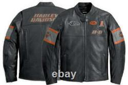Men's Harley Davidson Genuine Cowhide Leather Screaming Eagle Style Biker Jacket