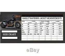 Men's Harley Davidson Motorbike Leather jacket Eagle Style Motorcycle Jacket
