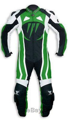 Men, s Motorcycle Motorbike CE Aproved Armour Leather Racing Bikers Suits ONE PCS