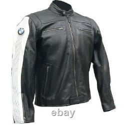 Mens BMW Motorbike Leather Jacket MOTOGP Racing Biker Motorcycle Leather Jackets