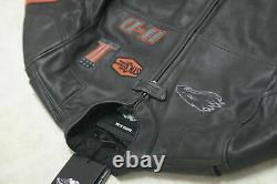 Mens Harley Davidson Screaming Eagle Cowhide High Quality Real Leather Jacket