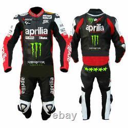 Mens Motorbike Leather Biker Suit Motorcycle Racing Armour Sport Aprilia Jacket
