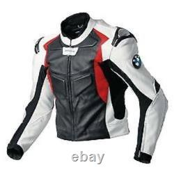 Mens Multicolor BMW Motorcycle Racing Biker Leather Jacket replica