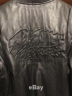 Mens black leather billionaire boys club jacket sale size XL from selfridges