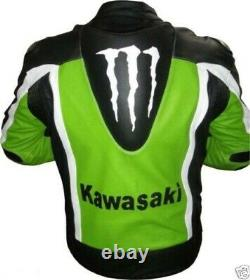 Monster Energy Motorbike Leather Jacket Motorcyclist Cowhide Jacket Suit