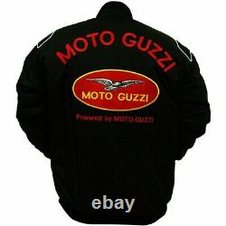 Moto Guzzi Motorbike Leather Jacket In Cowhide/5 Inside Ce Approved Protection