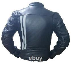 Moto Guzzi Motorbike / Motorcycle Leather Jacket In Cowhide/Protection/ All Size