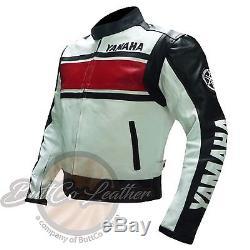 Moto Leather Biker Jacket YAMAHA 5241 Riding Red Motorbike Motorcycle Clothing
