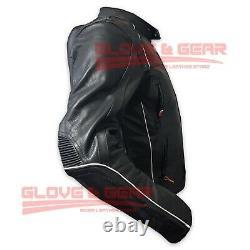 Motogp Motorcycle Triumph 5002 Black Cowhide Leather Armoured Jacket