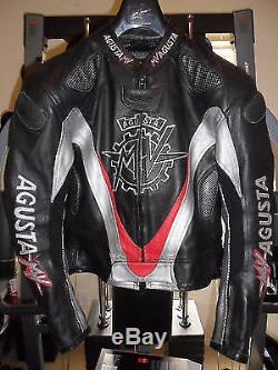Motorbike MV Agusta Racing Motorcycle leather Jacket All Size