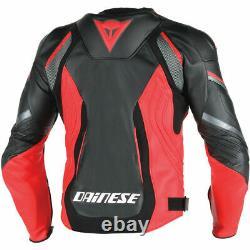 Motorbike MotoGP Super Speed Estiva White Black Fluo Red Racing Leather Jacket