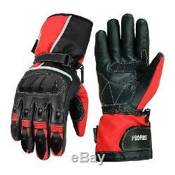 Motorbike Racing Suit Waterproof Motorcycle Jacket Trouser Leather Shoes Gloves