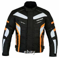 Motorcycle Riding Cordura Suit Armored Jacket Trouser Real Leather Boot Black