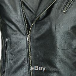 Motrox Cowhide Leather Jacket Black CE Armoured 100% Motorcycle / Motorbike
