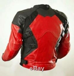 NEW DEADPOOL-Motorbike/Motorcycle Cowhide Leather Jacket, Pant-SUIT Racing Biker