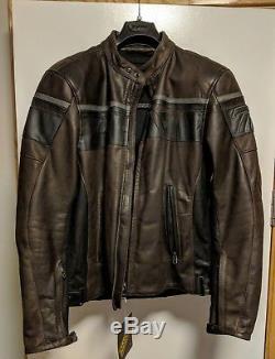 NEW Dainese Blackjack Scrambler Leather Motorcycle Motorbike Jacket Brown /Black