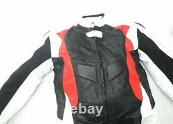 New BMW Motorbike Motocycle Leather Jacket Trousers Protection Red White Large