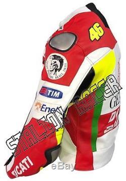 New Ducati Motogp Motorbike / Motorcycle Racing Cowhide Leather Jacket