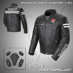New Ducati Motorcycle motorbike rider racing leather jacket MPJ-1-061(US 38-48)