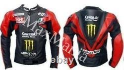 New Moto GP Cowhide Leather Biker Jacket