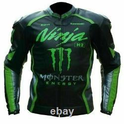 New Ninja Motorbike Motorcycle Racing Leather jacket LD-444-86-2021(US 38-48)