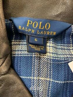 New Polo Ralph Lauren Kids leather jacket size 6
